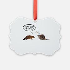 platypus awkward encounter Ornament
