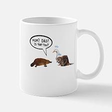 platypus awkward encounter Mugs