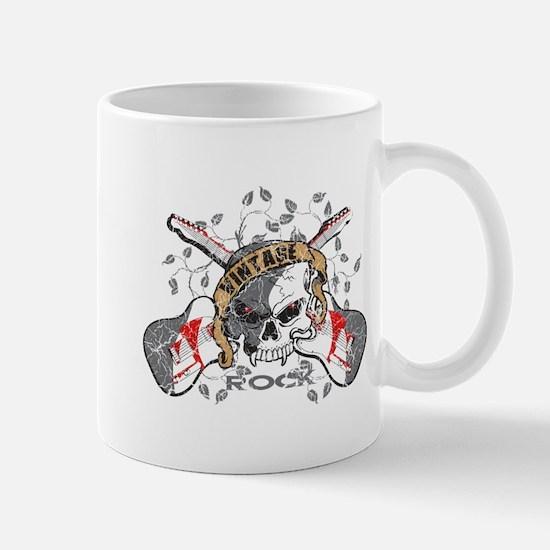 Vintage Rock Skull and Guitars Mug