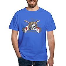 Vintage Rock Skull and Guitars T-Shirt