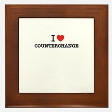 I Love COUNTERCHANGE Framed Tile
