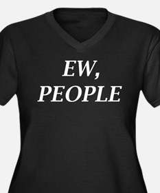 Ew, People Women's Plus Size V-Neck Dark T-Shirt