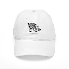 Barcode Flag - God Less Ameri Baseball Cap