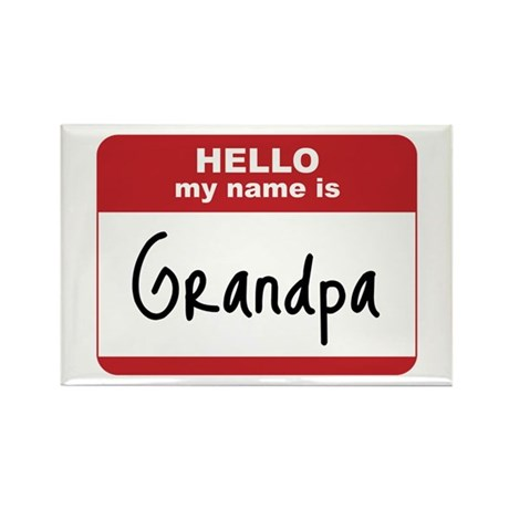 My Name Is Grandpa Rectangle Magnet