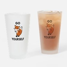 Go Fox Yourself Drinking Glass