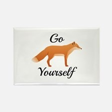 Go Fox Yourself Rectangle Magnet