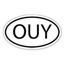 OUY Oval Decal
