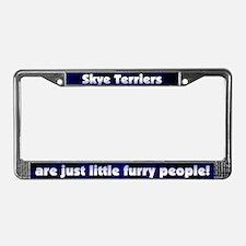 Furry People Skye Terrier License Plate Frame