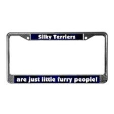 Furry People Silky Terrier License Plate Frame