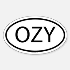 OZY Oval Decal