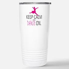 Cute Keep calm and dance on Travel Mug