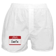 My Name Is Santa Boxer Shorts