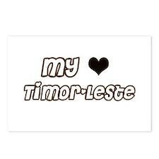 Cute Timor leste rocks Postcards (Package of 8)