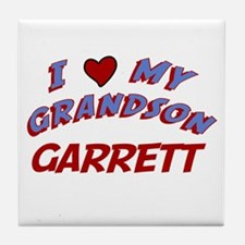 I Love My Grandson Garrett Tile Coaster