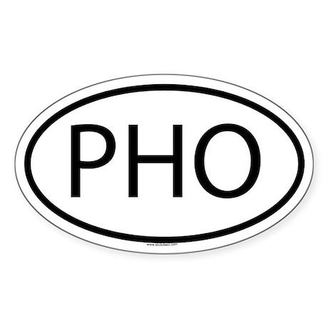 PHO Oval Sticker