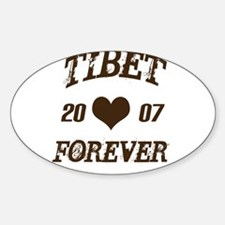 Tibet forever Oval Decal