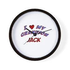 I Love My Grandson Jack Wall Clock