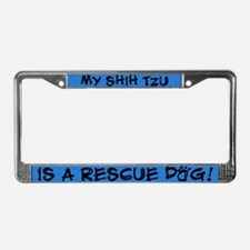 Rescue Dog Shih Tzu License Plate Frame