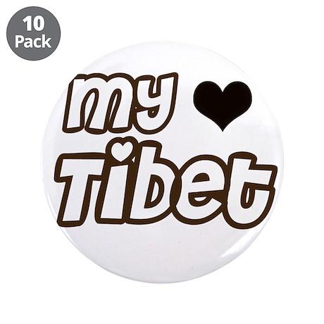 """my heart Tibet 3.5"""" Button (10 pack)"""