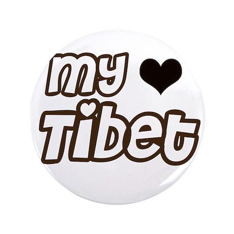 """my heart Tibet 3.5"""" Button"""