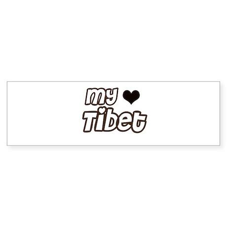 my heart Tibet Bumper Sticker