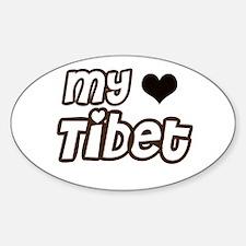 my heart Tibet Oval Decal