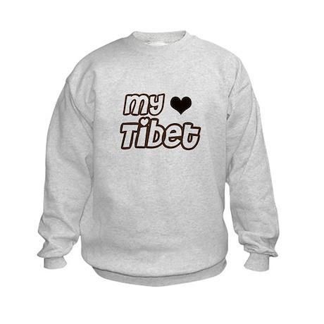 my heart Tibet Kids Sweatshirt