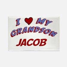 I Love My Grandson Jacob Rectangle Magnet