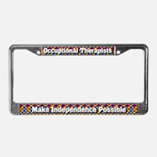 Occupational Therapists License Plate Frame