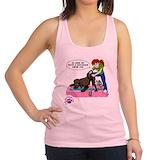 Dog humor Womens Racerback Tanktop