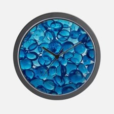 Cobalt Blue Stones Wall Clock