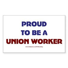 Proud Union Worker Rectangle Decal