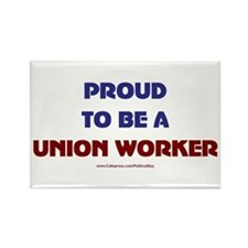 Proud Union Worker Rectangle Magnet