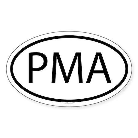 PMA Oval Sticker