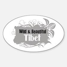 Wild tibet Oval Decal