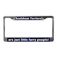 Furry People Sealyham Terrier License Plate Frame
