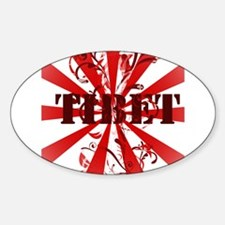 Tibet red vintage Oval Decal