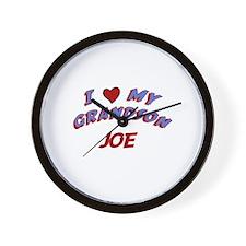 I Love My Grandson Joe Wall Clock