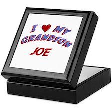 I Love My Grandson Joe Keepsake Box