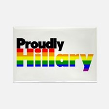Proudly Hillary Rainbow Magnets