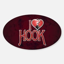 I Heart Hook Sticker (Oval)