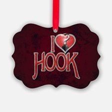 I Heart Hook Picture Ornament