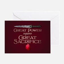 Great Power Requires Great Sacrifice Greeting Card