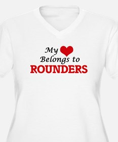 My heart belongs to Rounders Plus Size T-Shirt