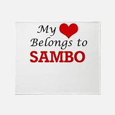 My heart belongs to Sambo Throw Blanket