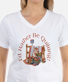 Rather Be Quilting T-Shirt