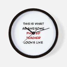 awesome phys ed teacher Wall Clock