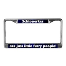 Furry People Schipperke License Plate Frame
