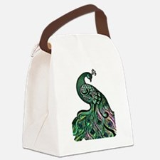 Cool Peacock Canvas Lunch Bag