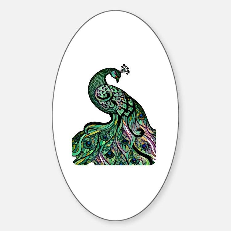 Cute Artistic Sticker (Oval)